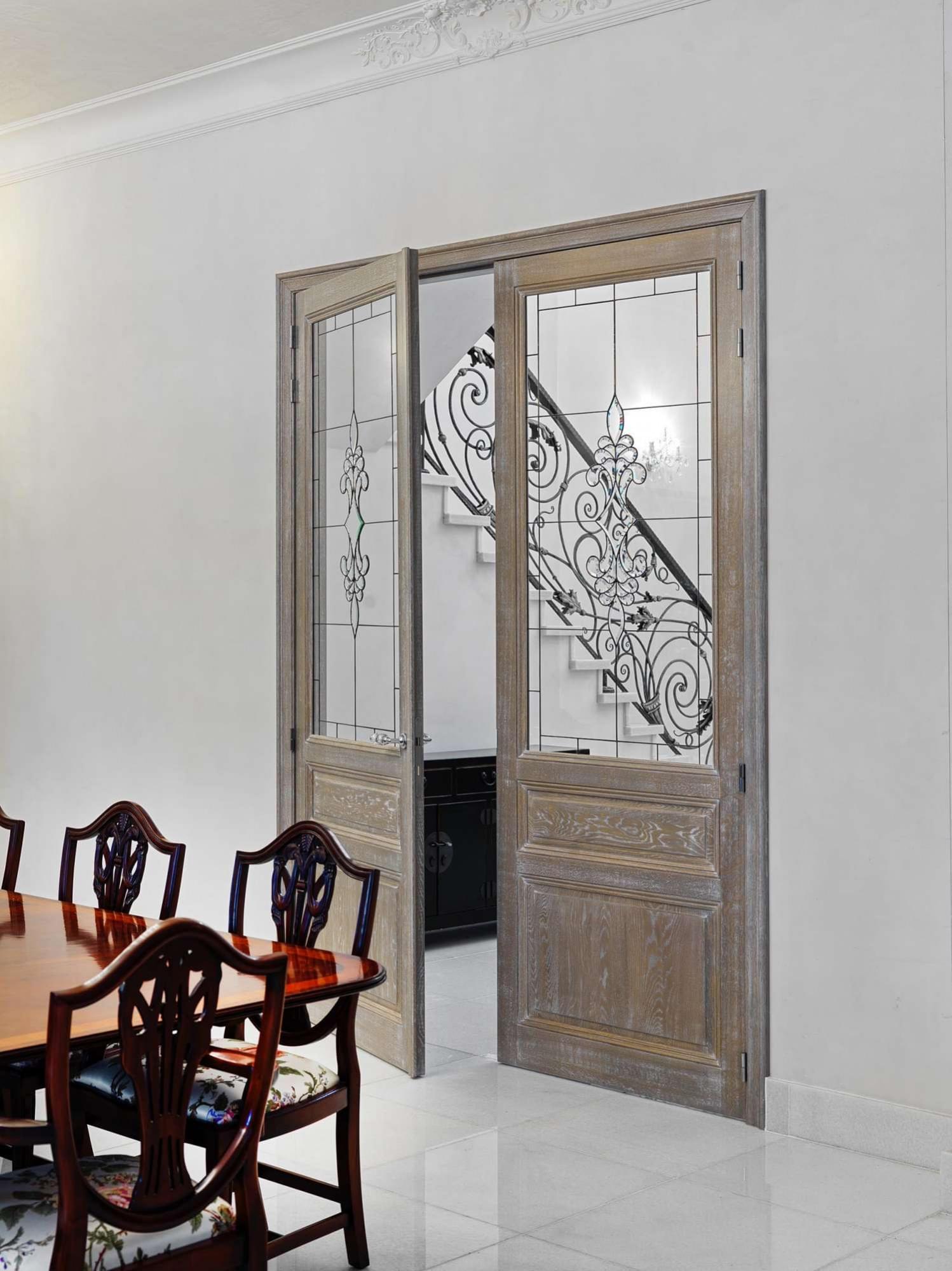 houten-deur-glas-in-lood