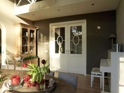 landelijke-stijl-dubbele-deur-glas