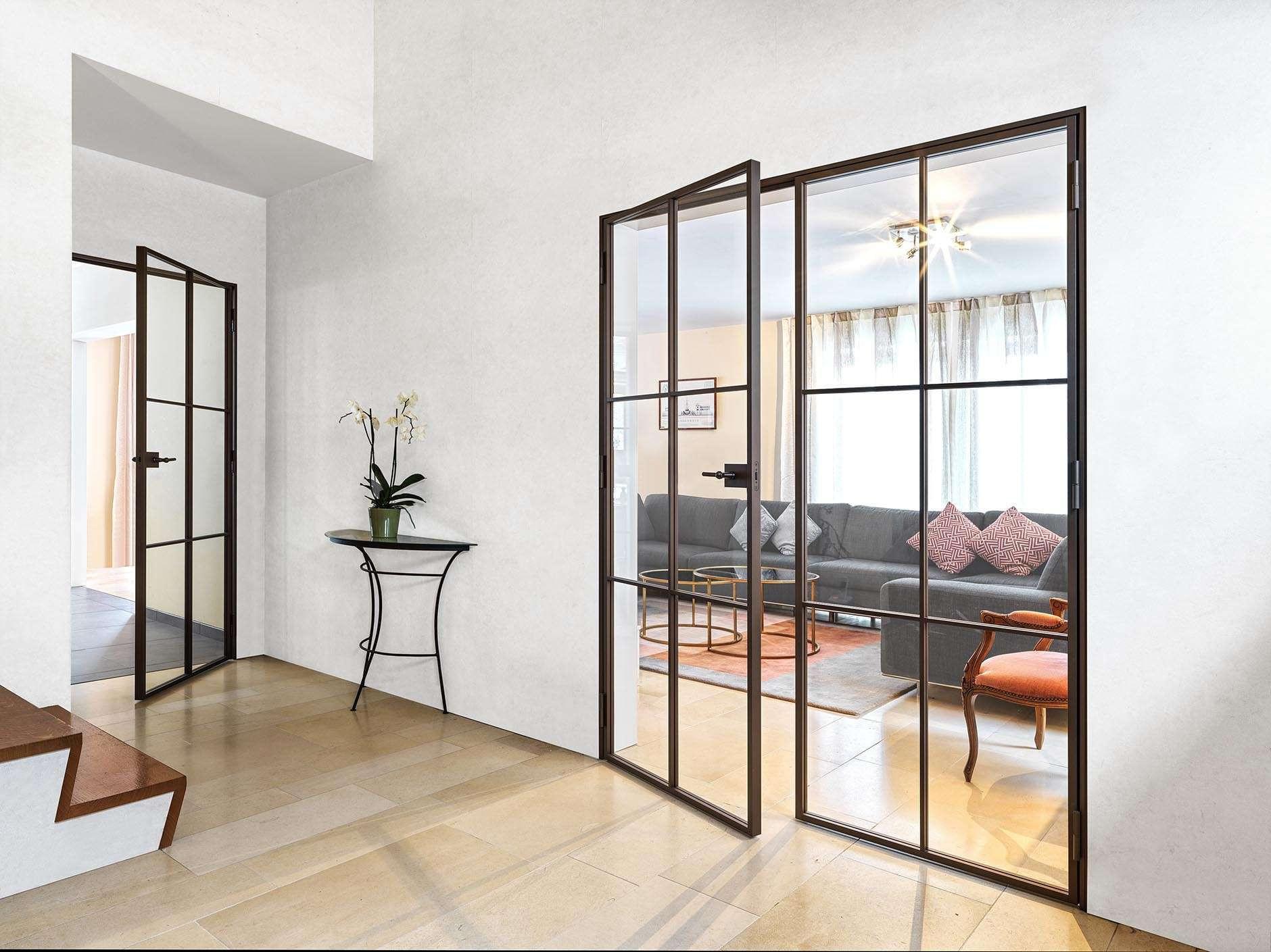 steellook-glazen-deur-brons