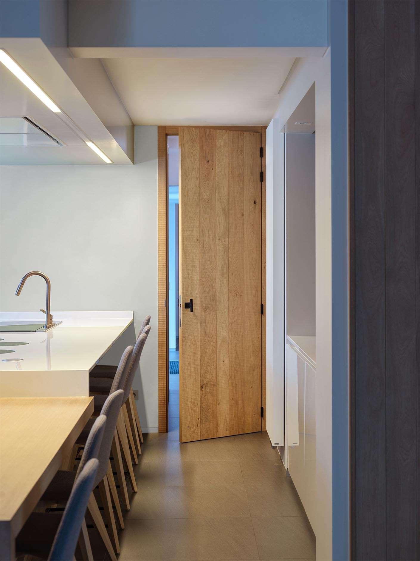 keuken-kamerhoge-deur-hout