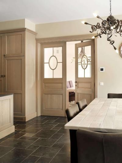 dubbele-houten-deur-glas-keuken